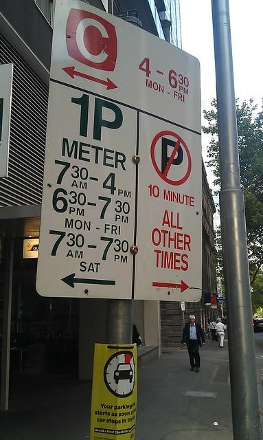 Clearway in William Street southbound/inbound only applies in PM peak?!