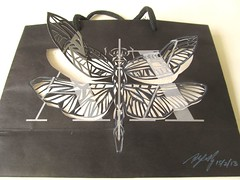 3D dragonfly for Armani Exhange bag