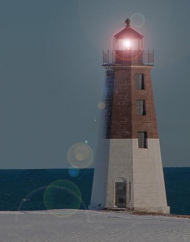 Point Judith Lighthouse by Jerri Moon Cantone via I {heart} Rhody