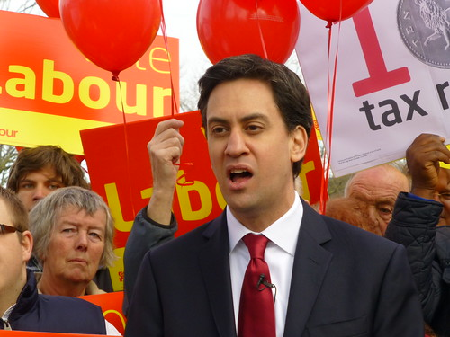 Milliband attacks cost of living in Eastleigh