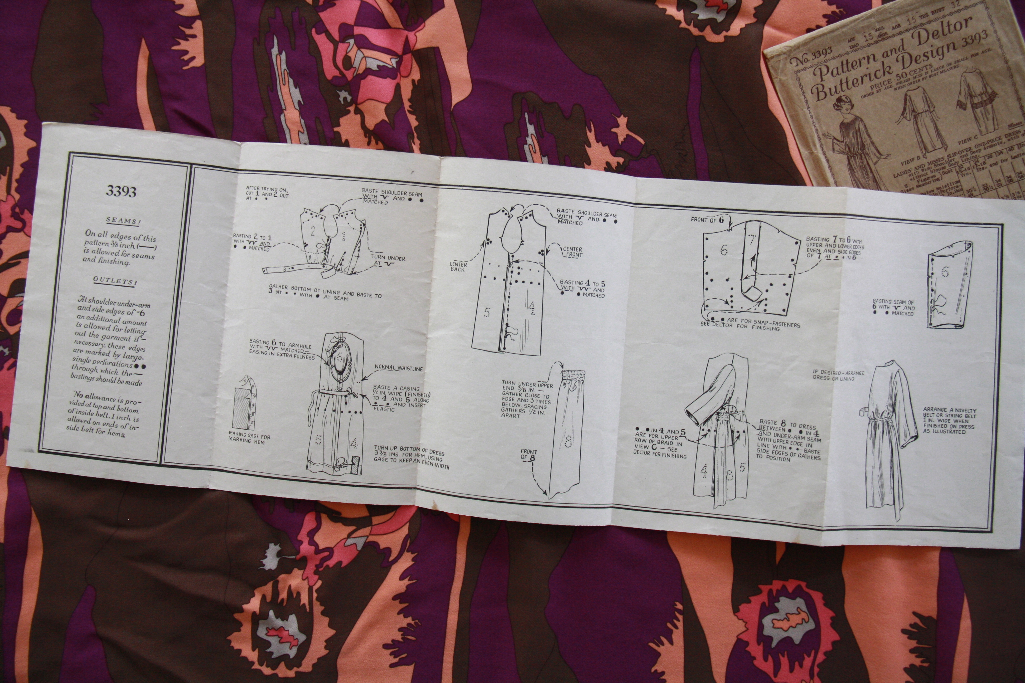 sewing a 1920s silk dress