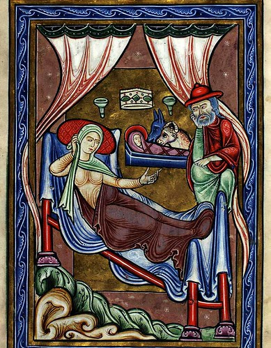 004-La natividad-9 verso-The Copenhagen Psalter- 1175-1200- Thott 143 2º-The Royal Library