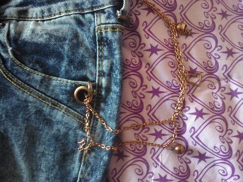 Chain Detail Bershka Jeans