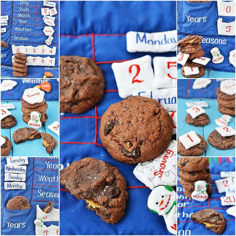 коллаж шоколадное печенье с начинкой