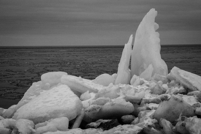 icy coastline!  DSCF2121