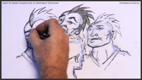 learn how to draw characters in different positions 028