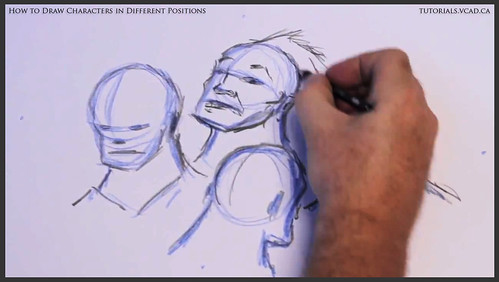 learn how to draw characters in different positions 016