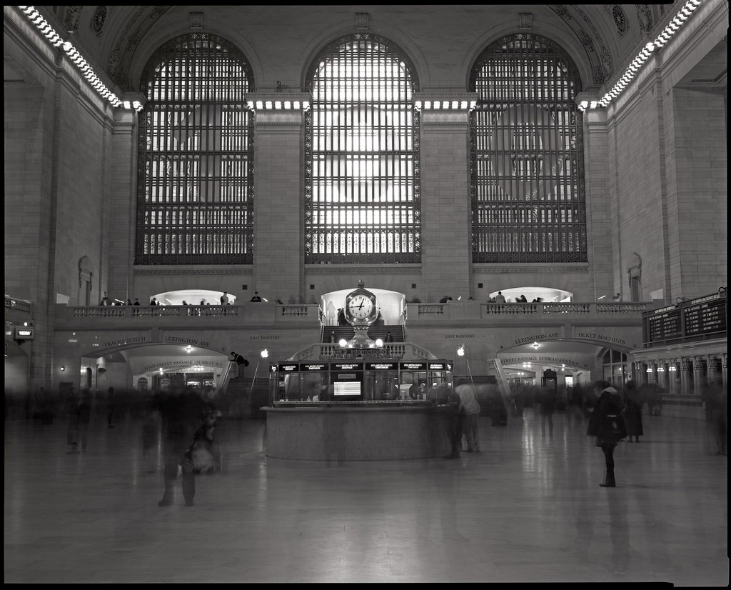 Grand Central Terminal, NYC, 8x10 Kodak Tri-X 320