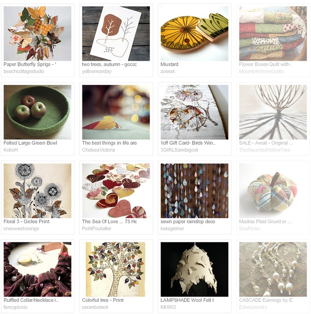 hints of autumn, Etsy treasury curated by Emma Lamb