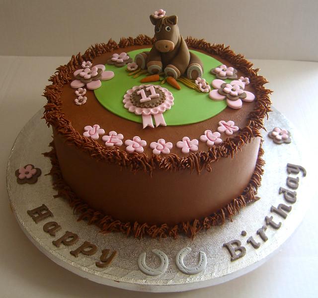 Horse Rosette Cake