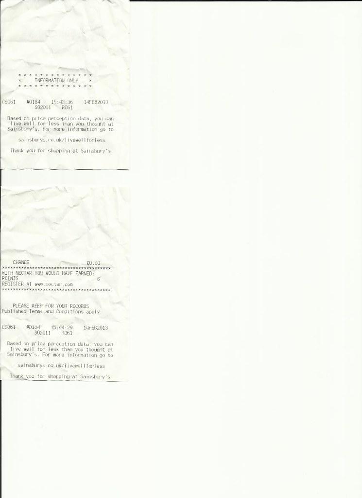 saintsbury recepts 2