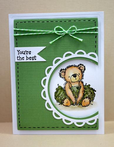 Tutu Bear Note Set Green