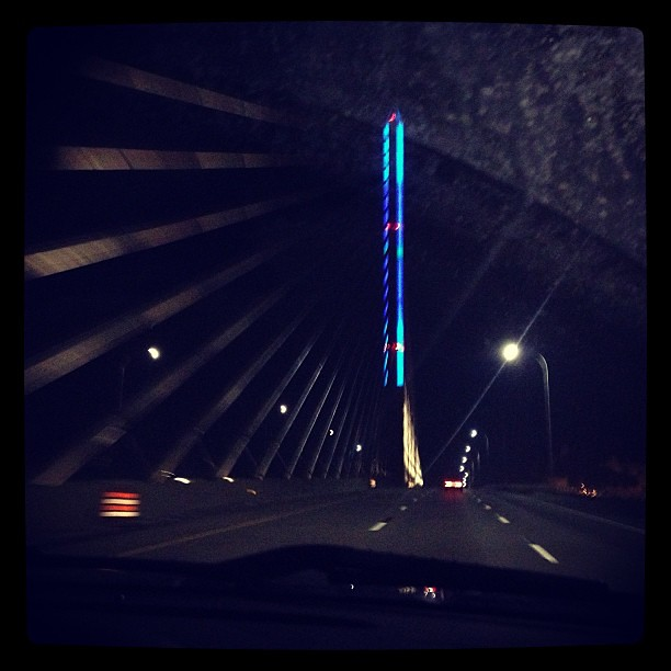 Same bridge MANY hours later. #ikea #toledo #roadtrip #sotired