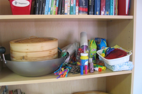 Craft Shelf, before