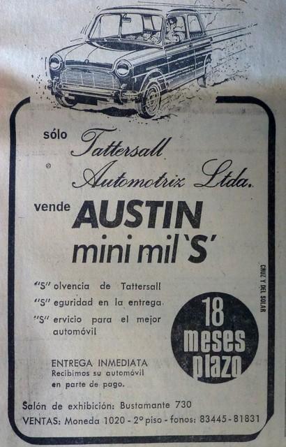 Austin Mini 1000 S, Chile