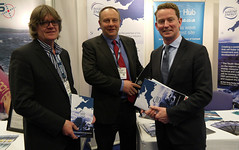 Greg Barker with representatives from the South West Marine Energy Park