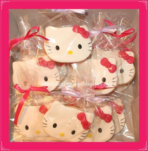 Bolachas embaladas Kitty laço rosa 14 by Osbolosdasmanas