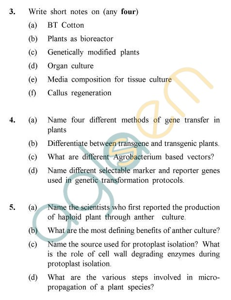 UPTU B.Tech Question Papers - TBT-602 - Plant Biotechnology