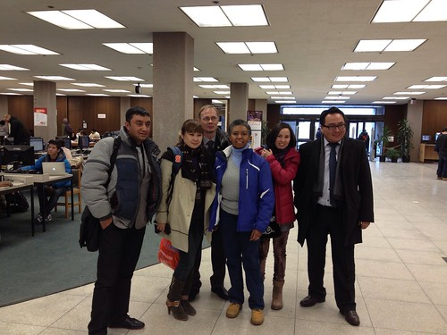 Visiting journalists from Kyrgyzstan
