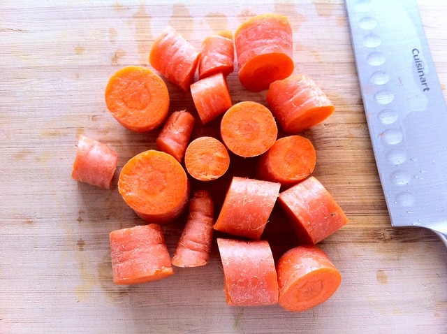 Chunked Carrots for Stock