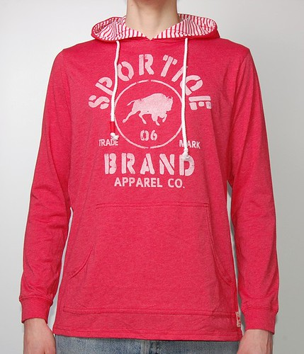 Sportiqe Red Stanton Hooded Sweatshirt