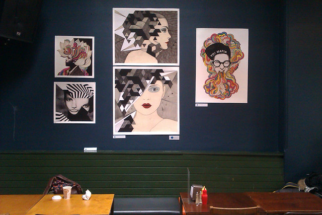 my work in FIRST THURSDAYS at the bank of stokes croft, bristol