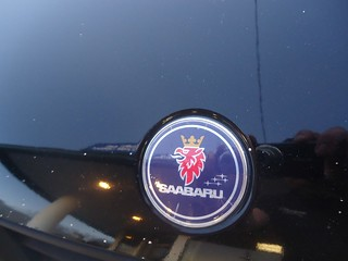 saab 9-2x saabaru badge