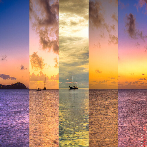 leica sunset sea sky colors clouds sunrise horizon caribbean stlucia leicax2