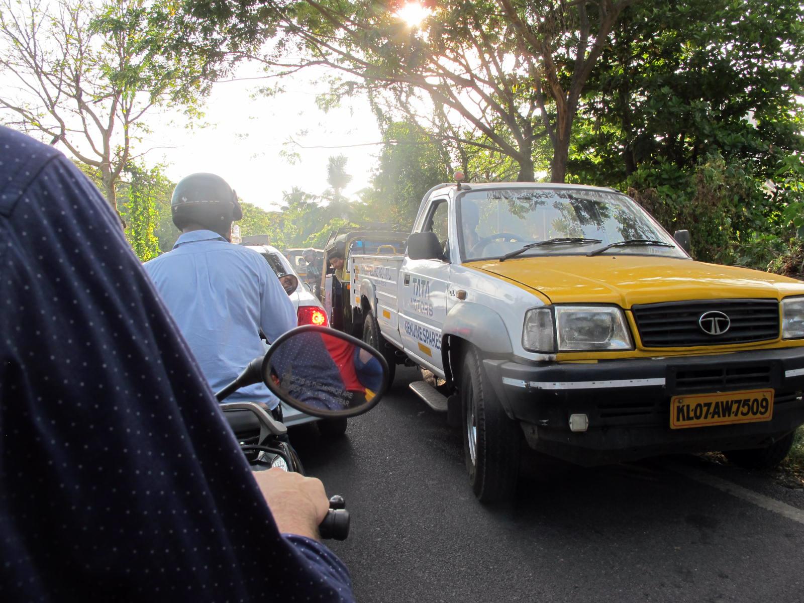 Kochi with a bike
