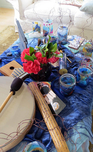 Mixed media expressive arts retreat