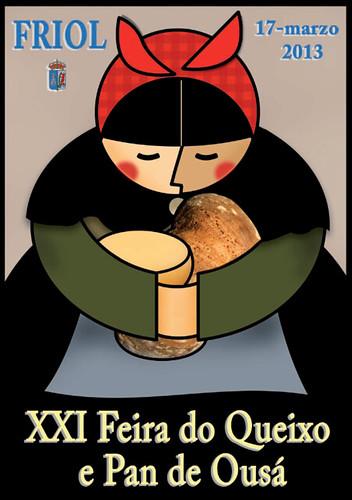 Friol 2013 - XXI Feira do Queixo e Pan de Ousá - cartel