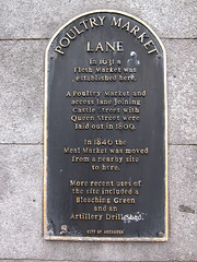 Photo of Flesh Market, Aberdeen, Poultry Market, Aberdeen, and Meal Market, Aberdeen black plaque