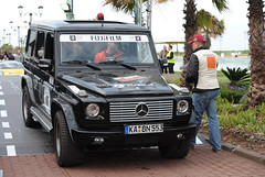 off-roading(0.0), automobile(1.0), sport utility vehicle(1.0), vehicle(1.0), mercedes-benz(1.0), mercedes-benz g-class(1.0), off-road vehicle(1.0), land vehicle(1.0), luxury vehicle(1.0),