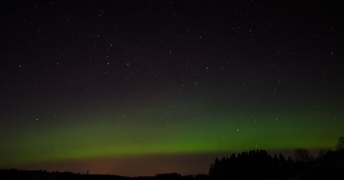 sky cold green landscape aurora