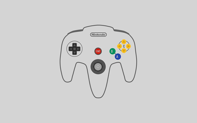 Nintendo N64 controller wallpaper