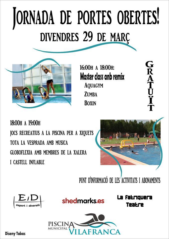 Vilafranca el dia 1 d abril torna a obrir la piscina for Piscina 29 de abril telefono