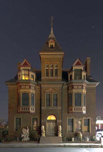 city usa night landscape lights pennsylvania pa 1884 abbottstown 31662 williamhaferhouse