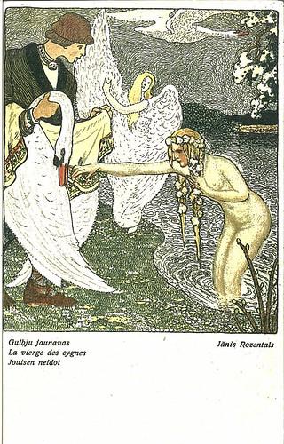 Janis Rozentals - La vierge des cygnes by Yekkes