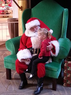 Deep in thought with Santa