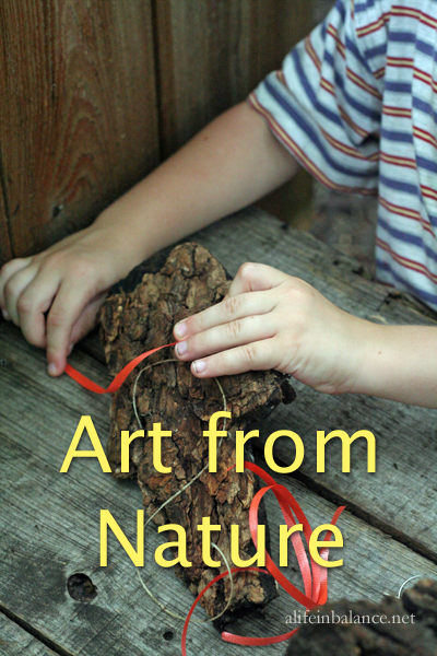 Kid Art from Natural Materials