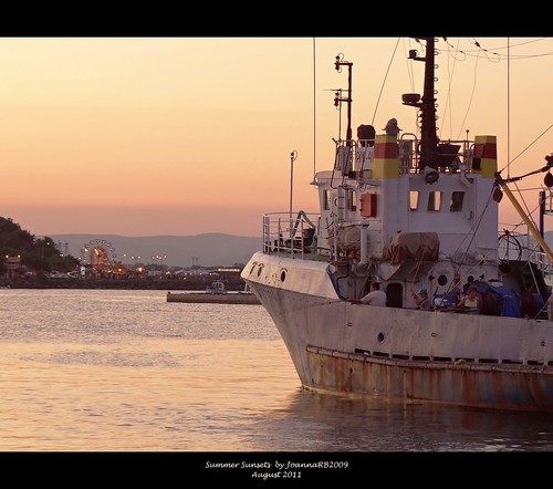 sunset sea summer sky seascape water landscape harbour bulgaria fishingboat nessebar neseber nesseber nesebur theblacksea