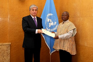 NEW PERMANENT REPRESENTATIVE OF GHANA PRESENTS CREDENTIALS TO THE DIRECTOR-GENERAL OF THE UNITED NATIONS OFFICE AT GENEVA