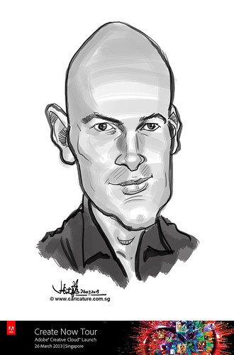 digital caricature for Adobe Create Now Tour - speaker 3