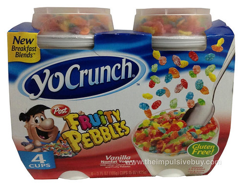 YoCrunch Breakfast Blends with Post Fruity Pebbles