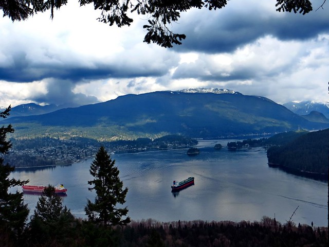 View of Deep Cove from Burnaby Mountain Park