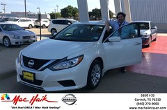 Congratulations Sandy & Hector on your #Nissan #Altima from Anthony Hoover at Mac Haik Nissan Corinth! #NewCar