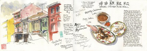05 Tues25_03 Xmas Sketchwalk Little India_Colour and Food