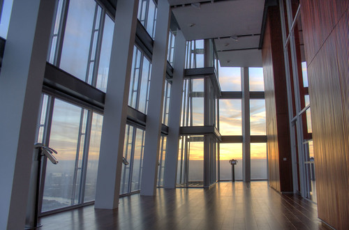 The viewing gallery at the top of The Shard