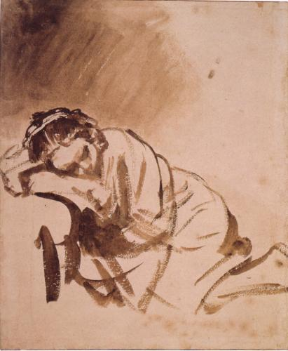 Woman Sleeping - Rembrandt
