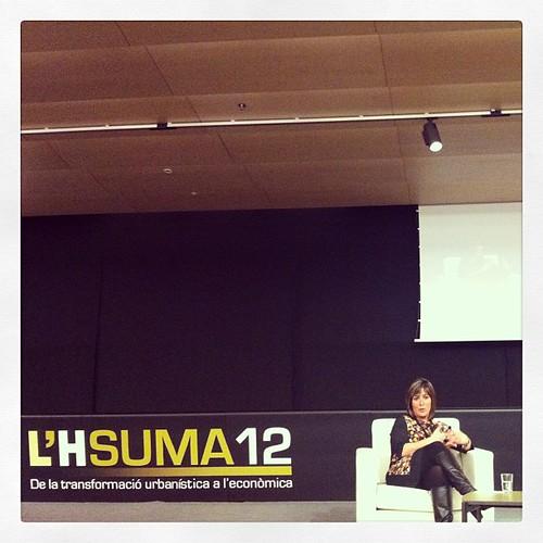 Conferència #lhsuma12 amb l'alcaldessa de L'Hospitalet Núria Marín #LH